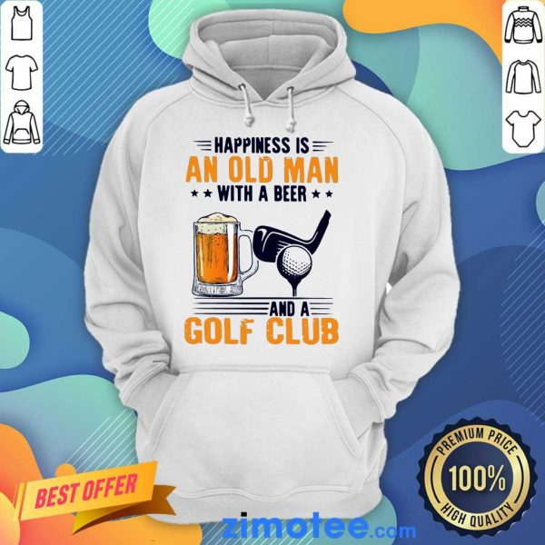Annoyed Is An Old Man With A Beer And A Golf Club 2 Hoodie