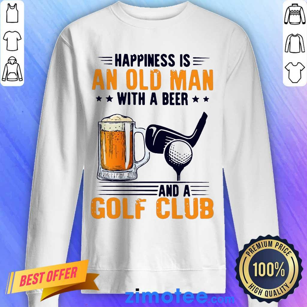 Annoyed Is An Old Man With A Beer And A Golf Club 2 Sweater
