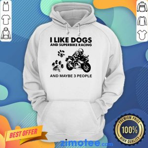 Great Dogs And Superbike 3 People Hoodie