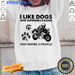 Great Dogs And Superbike 3 People Long-Sleeved