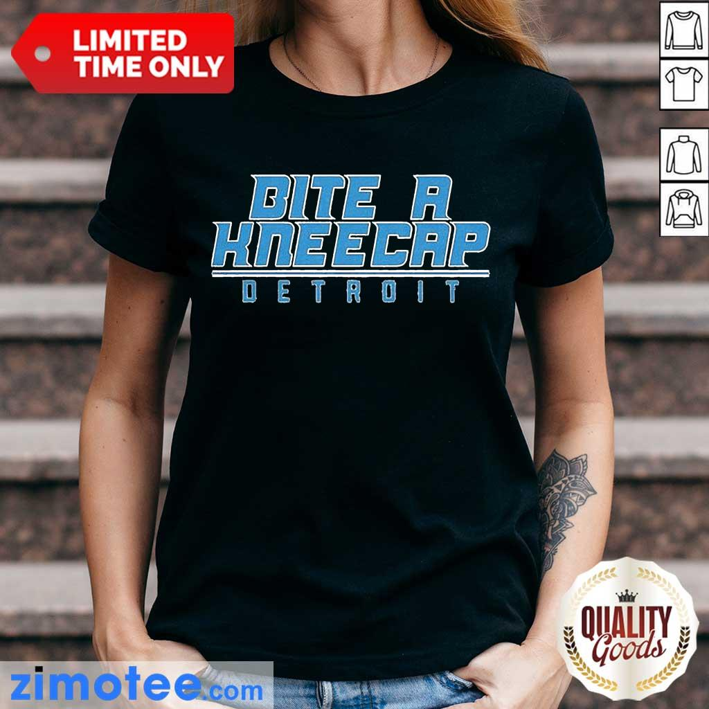 Bite A Kneecap Detroit Football Ladies Tee