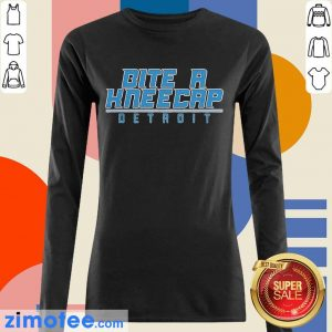 Bite A Kneecap Detroit Football Long Sleeved