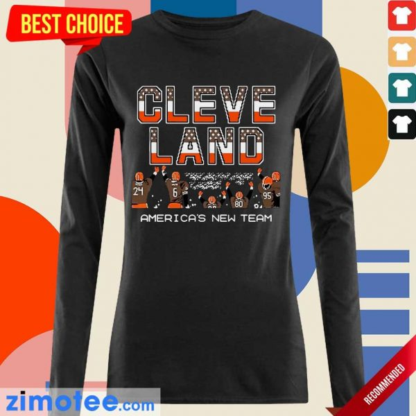 Hurt Cleveland Browns Americas New Team 5 Long-Sleeved