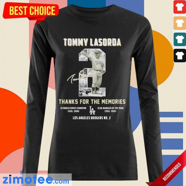 Intrigued Tommy Lasorda 2 Los Angeles Dodgers Long-Sleeved