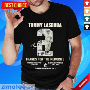 Intrigued Tommy Lasorda 2 Los Angeles Dodgers Shirt