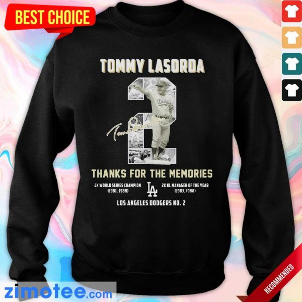 Intrigued Tommy Lasorda 2 Los Angeles Dodgers Sweater