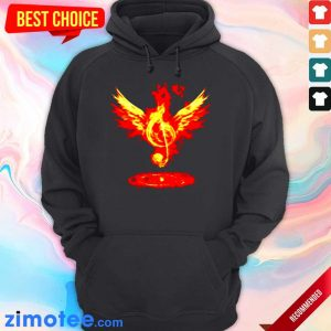 Jealous Music Note Fire Angel 8 Hoodie