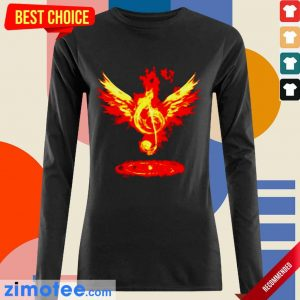 Jealous Music Note Fire Angel 8 Long-Sleeved