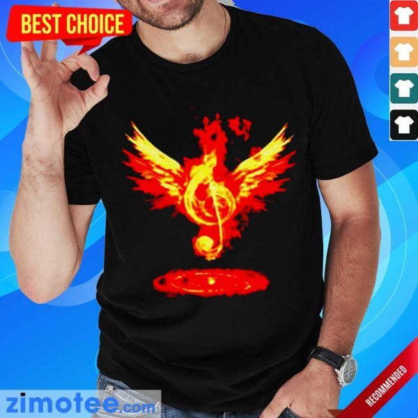 Jealous Music Note Fire Angel 8 Shirt
