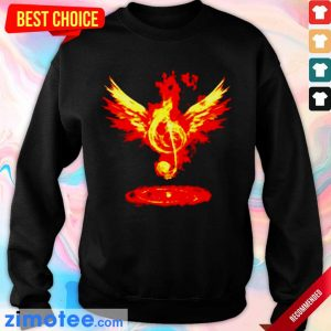 Jealous Music Note Fire Angel 8 Sweater