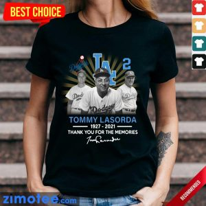 Jealous Tommy Lasorda 1927 2021 Signature Ladies Tee