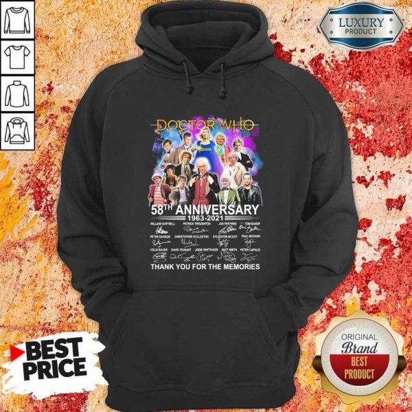 Keen Doctor Who Movies 58 Anniversary 1963 2021 Thank You Hoodie
