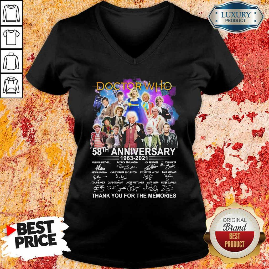 Keen Doctor Who Movies 58 Anniversary 1963 2021 Thank You V-neck