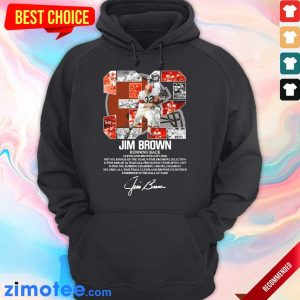 32 Jim Brown Running Back Cleveland Browns 1957 1965 Signature Hoodie