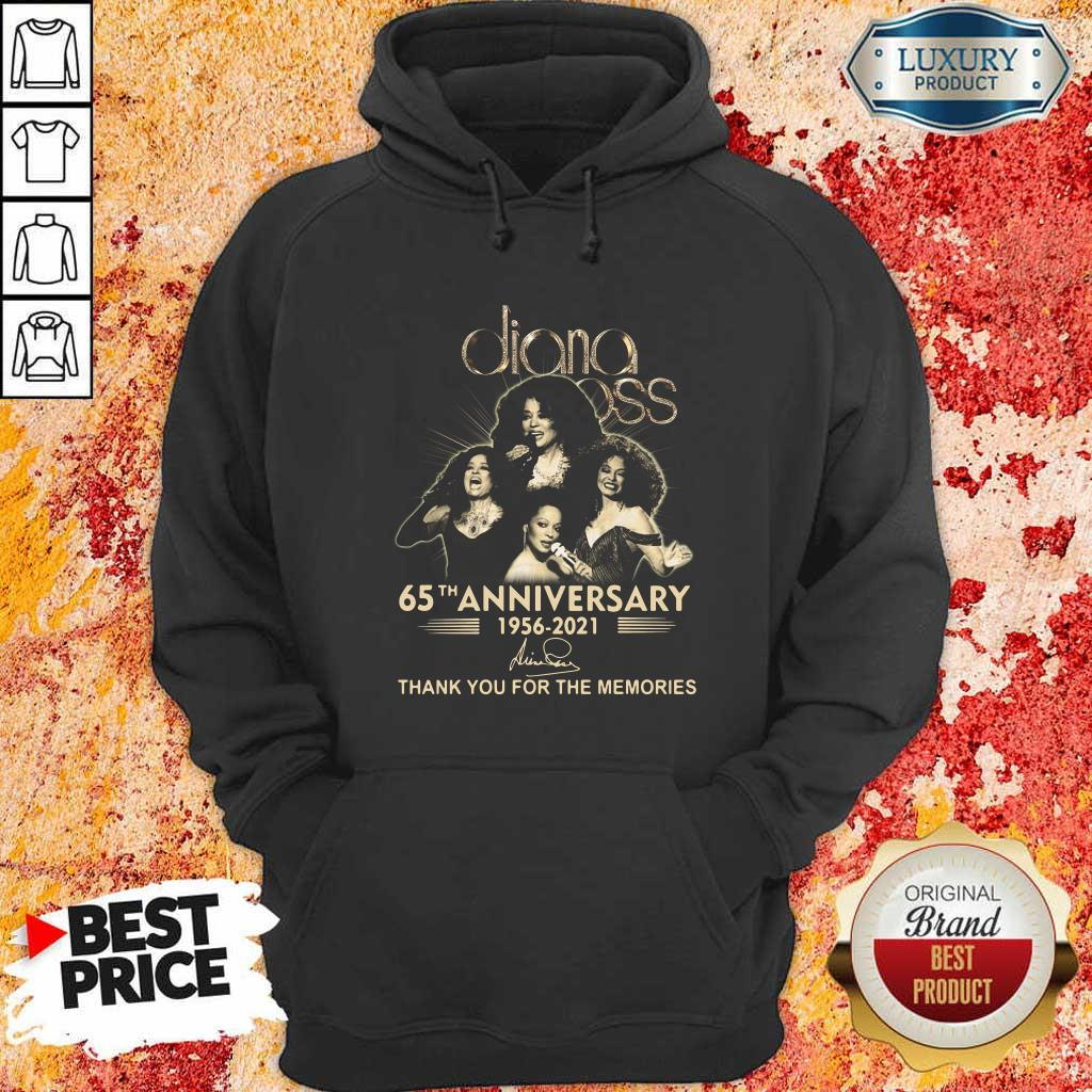 Relaxed Diana Ross 65th Anniversary 1956 2021 Thank You Signature Hoodie