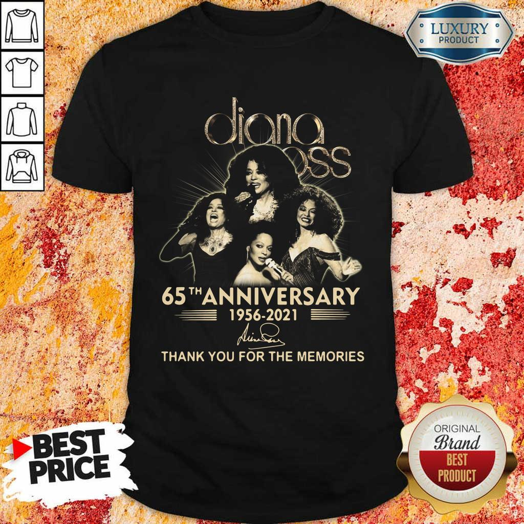 Relaxed Diana Ross 65th Anniversary 1956 2021 Thank You Signature Shirt