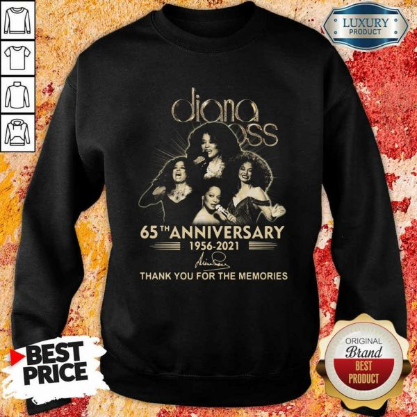 Relaxed Diana Ross 65th Anniversary 1956 2021 Thank You Signature Sweatshirt