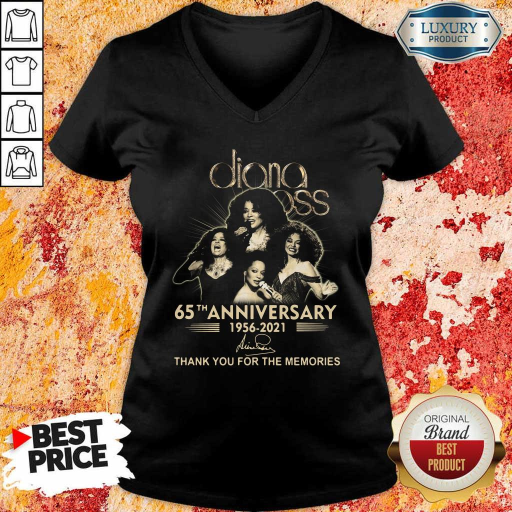 Relaxed Diana Ross 65th Anniversary 1956 2021 Thank You Signature V-neck
