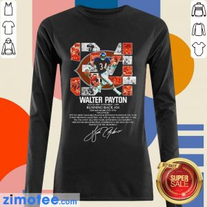 34 Walter Payton July 25 1954 November 1 1999 Running Back Chicago Bears 1975 1978 Signature ShirtWonder 34 Walter Payton July 25 1954 November 1 1999 Running Back Chicago Bears 1975 1978 Signature Long Sleeved