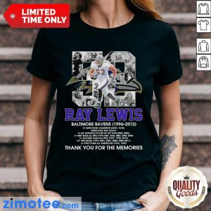 52 Ray Lewis Baltimore Ravens Signature Ladies Tee