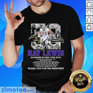 52 Ray Lewis Baltimore Ravens Signature Shirt