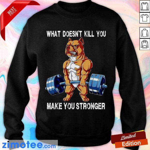 Amused Bulldog 58 What Make You Stronger Sweater
