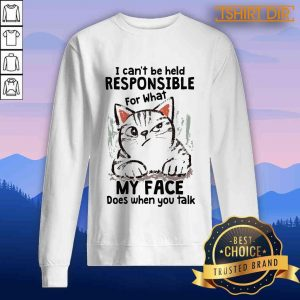 Cat I Can'T Be Held Responsible For What My Face Does When You Talk Sweater