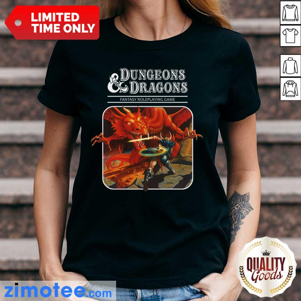 Confident Roleplay 1 Game Dungeons And Dragons Ladies Tee