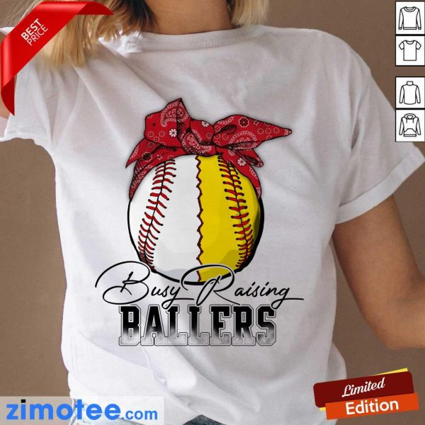 Funny Just A Mom Busy 478 Ballers Ladies Tee