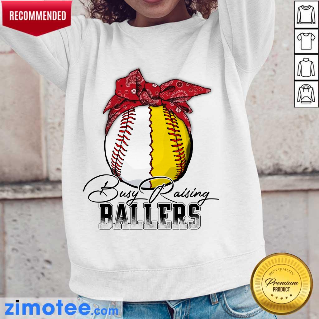 Funny Just A Mom Busy 478 Ballers Long-Sleeved