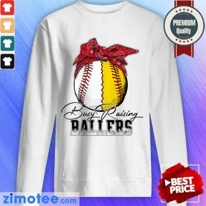 Funny Just A Mom Busy 478 Ballers Sweater