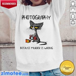 Hot Super 2023 Photography Murder Is Wrong Black Cat Long-Sleeved