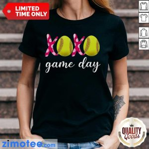 Official Baseball 14 XoXo Game Day Ladies Tee