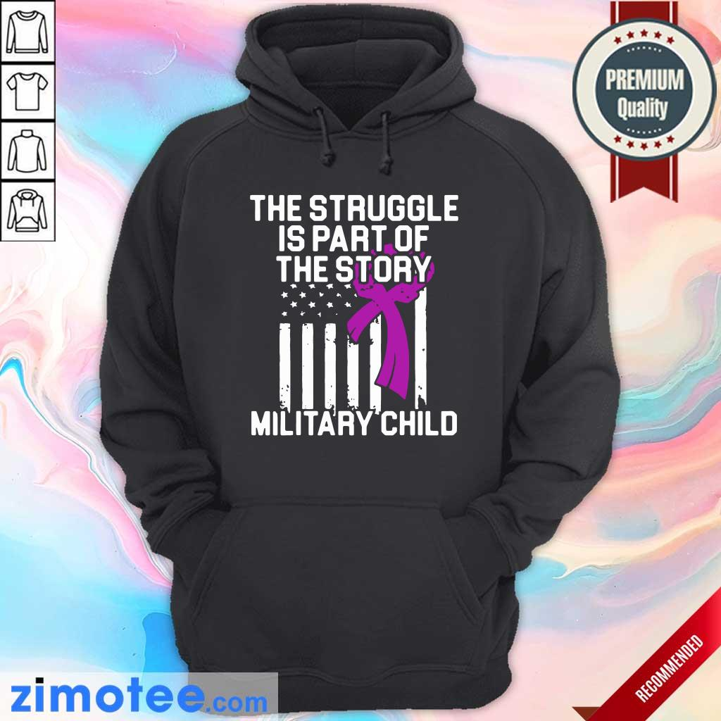 Official Military Child Month Purple Up Story Hoodie
