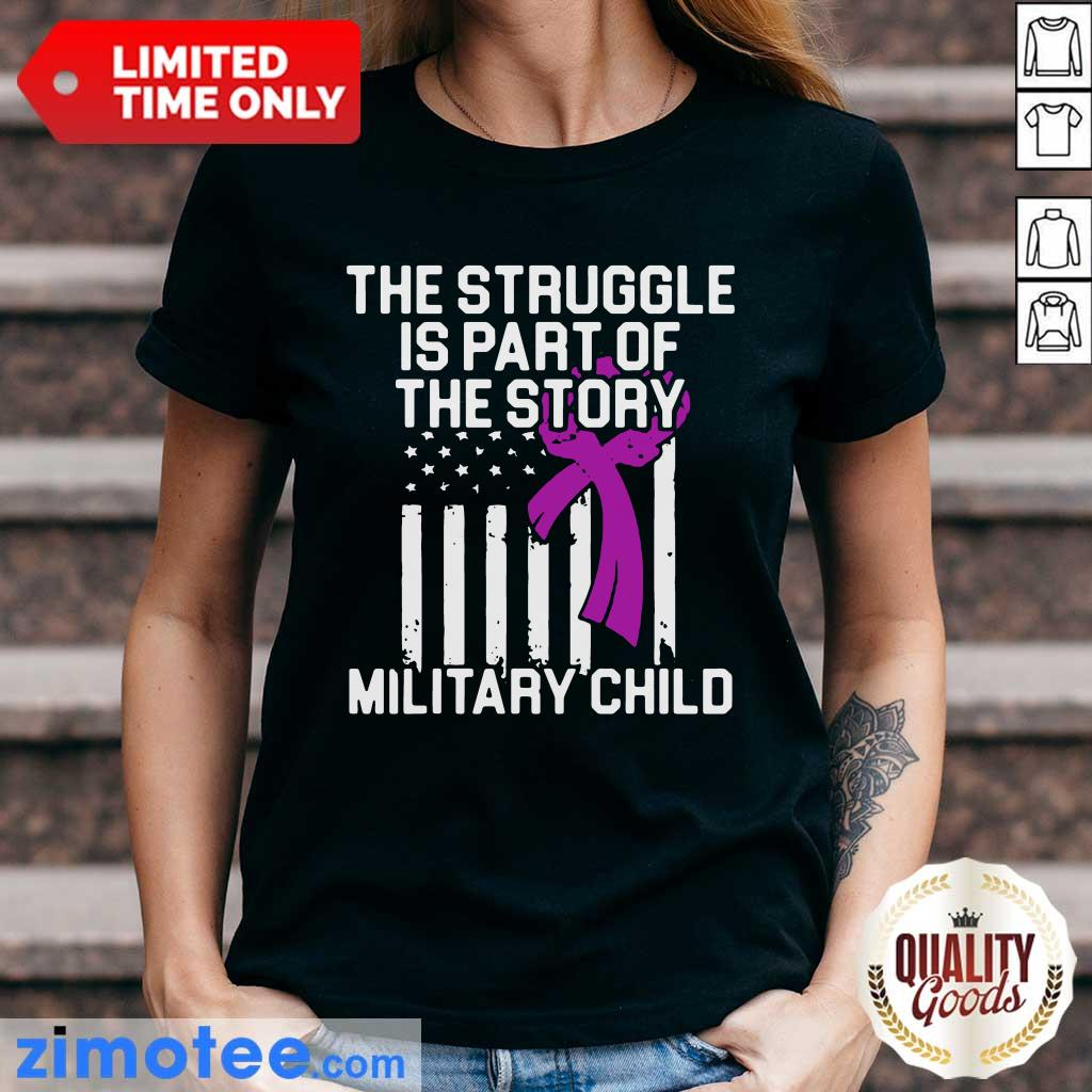 Official Military Child Month Purple Up Story V-neck