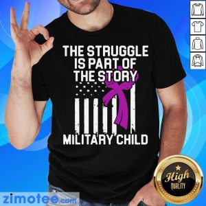 Official Military Child Month Purple Up Story Shirt