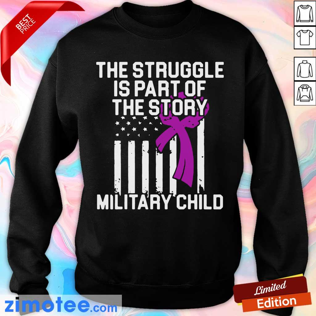 Official Military Child Month Purple Up Story Sweater