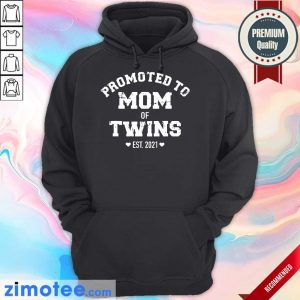 Official Promoted To Mom Of Twins Hoodie