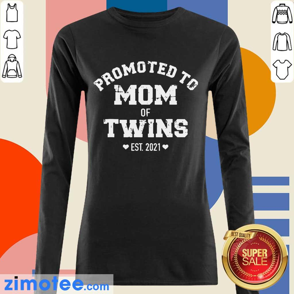 Official Promoted To Mom Of Twins Long-Sleeved