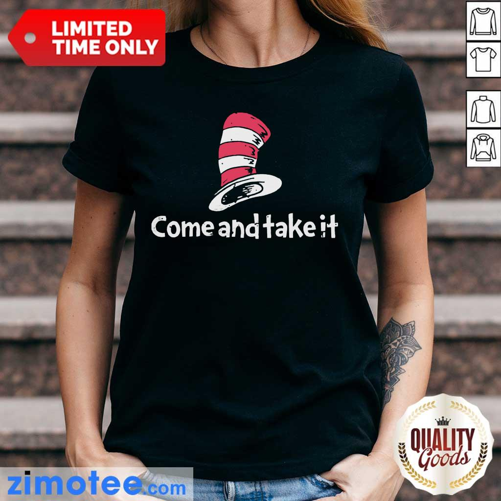 Official Seuss Come And Take It Ladies Tee