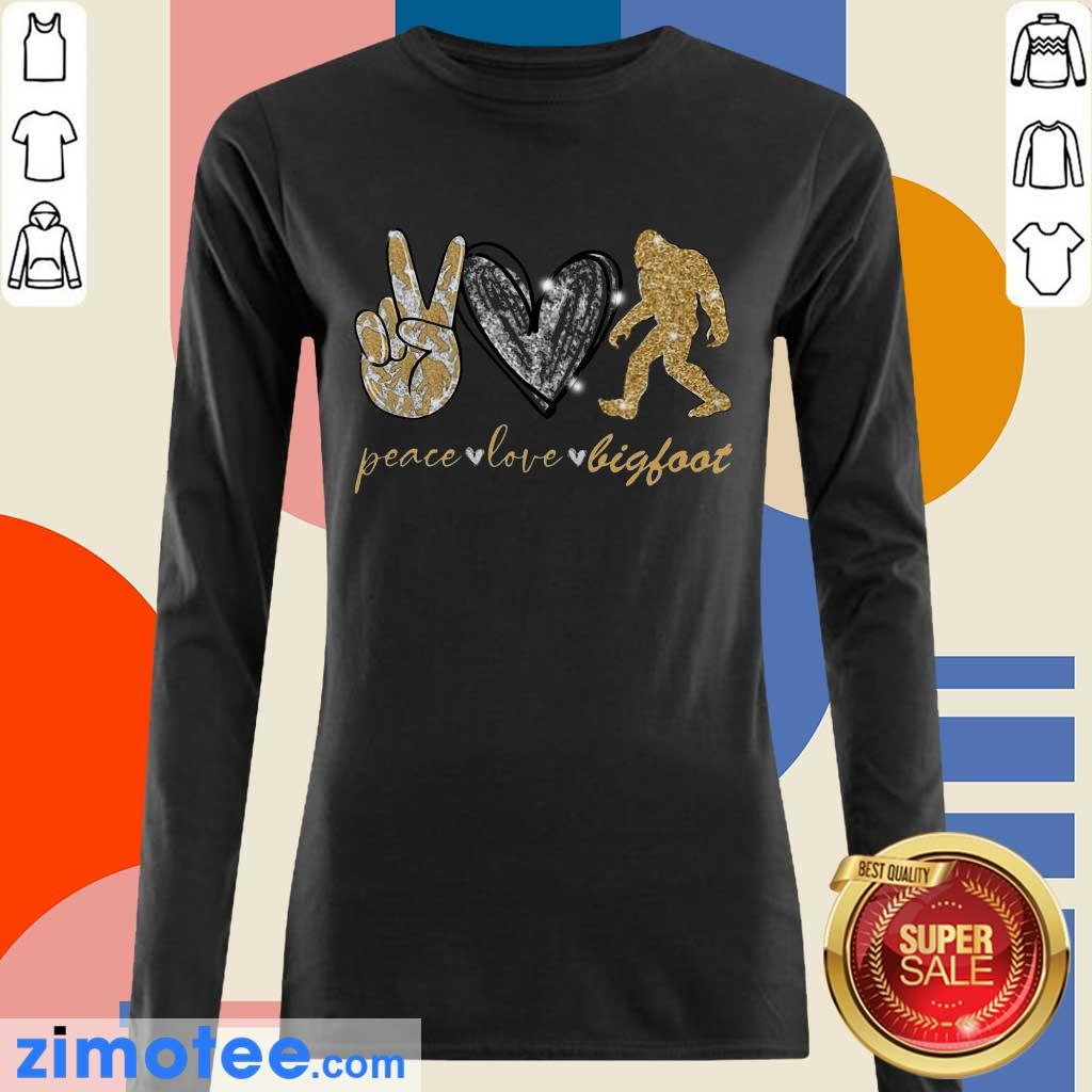 So Awesome Peace 10 Love Bigfoot Long-Sleeved