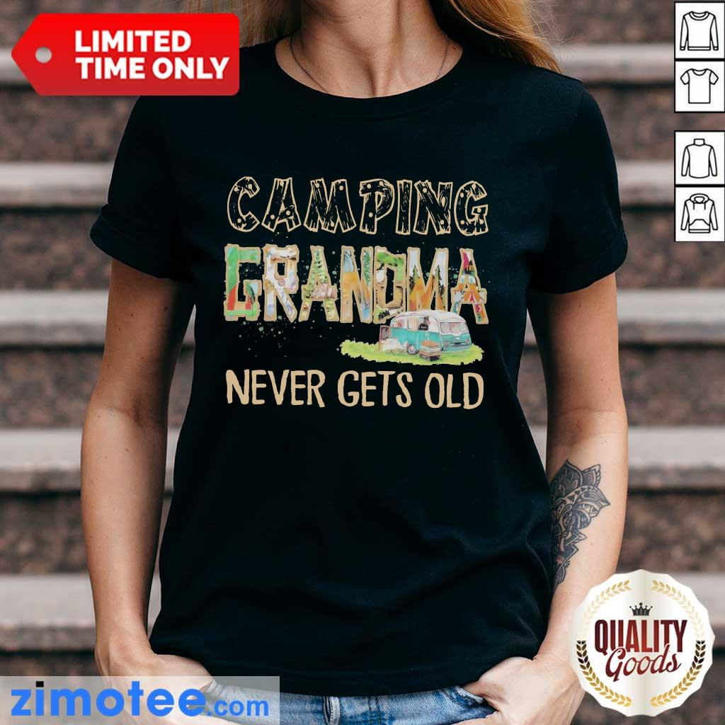 So Camping Grandma Never 2 Gets Old Ladies Tee
