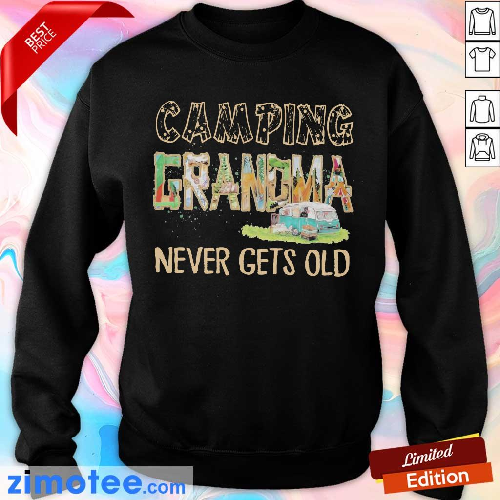 So Camping Grandma Never 2 Gets Old Sweater