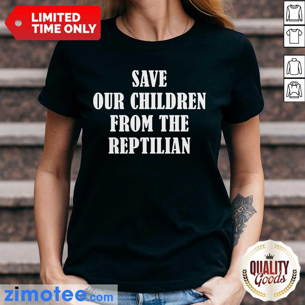 So Happy 102 Save Our Children From The Reptilian Ladies Tee