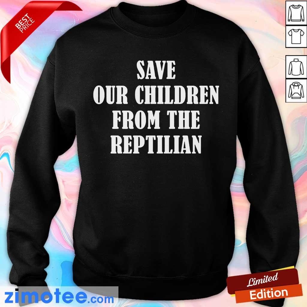 So Happy 102 Save Our Children From The Reptilian Sweater