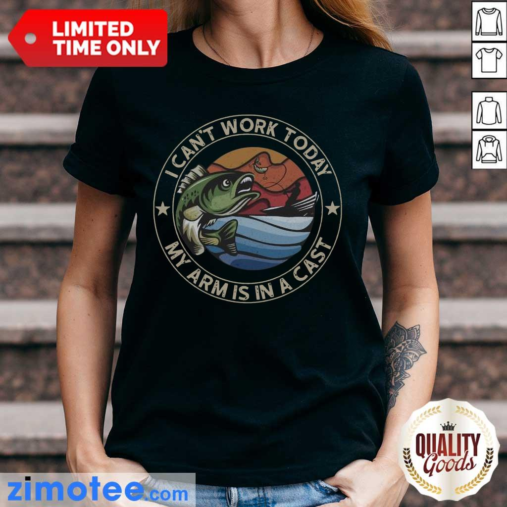 So I Can Not Work 1 Cast Fishing Ladies Tee