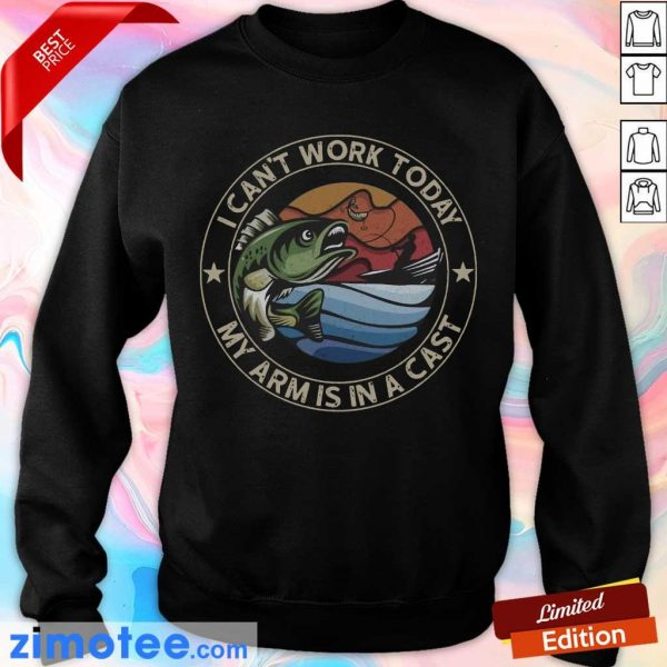 So I Can Not Work 1 Cast Fishing Sweater