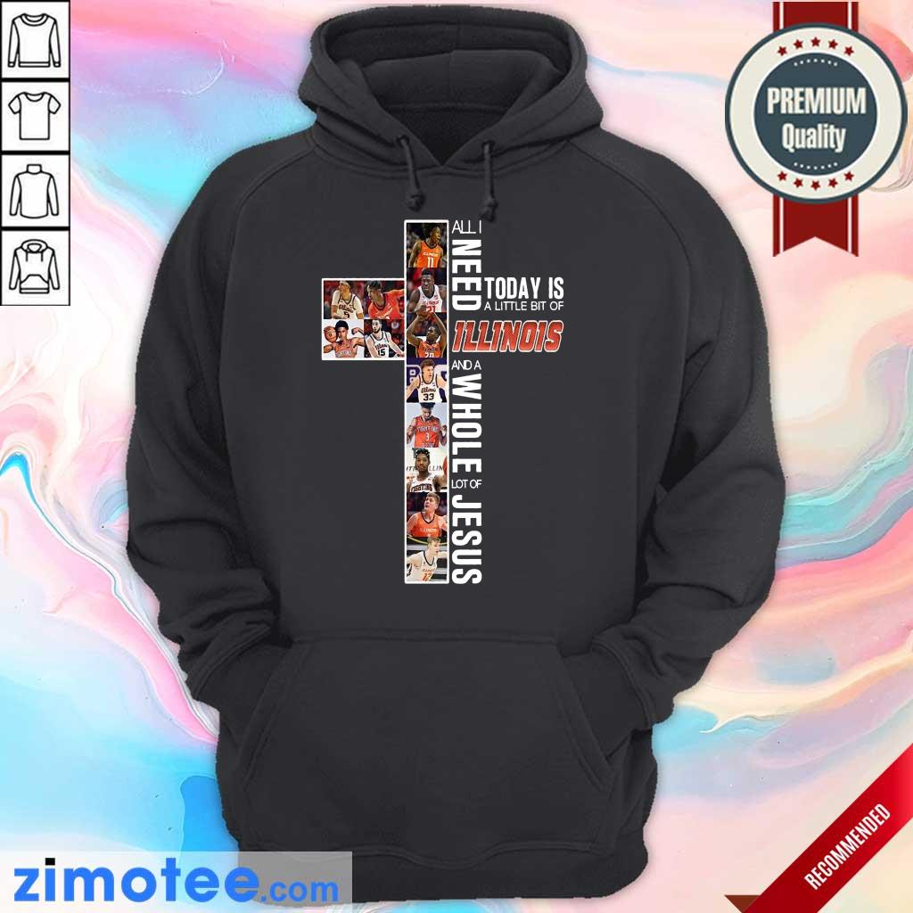 Top 2021 Today Is An Of Illinois Jesus Hoodie