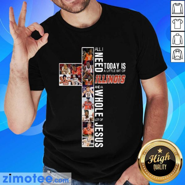 Top 2021 Today Is An Of Illinois Jesus Shirt