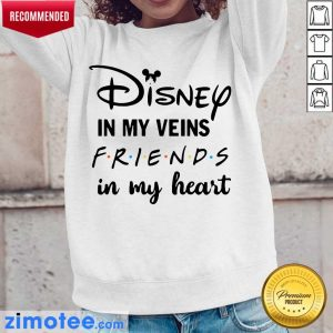Totally Funny Disney In My 4 Veins Friends Long-Sleeved